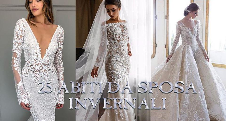 Abiti da sposa a maniche lunghe: 25 vestiti glam per le spose invernali